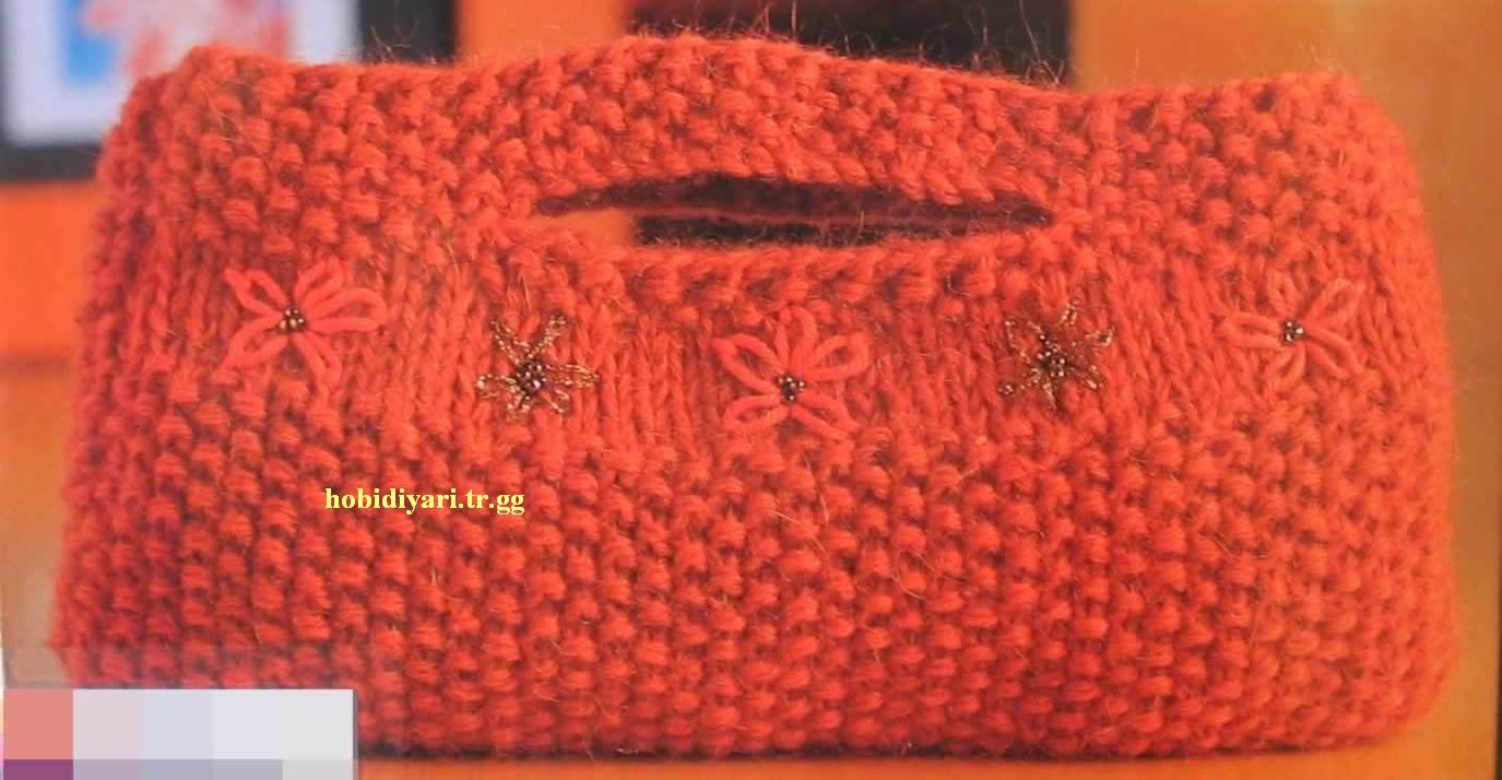 Вязание клатча спицами 56