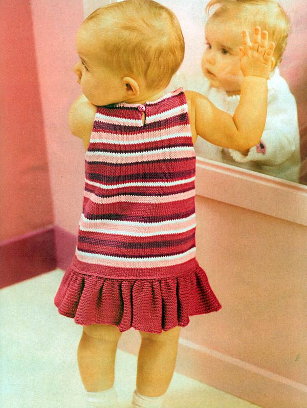 Anlatımlı bebek elbisesi