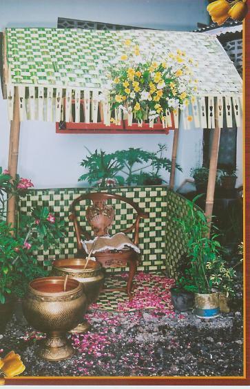 Dekorasi Gubuk Untuk Upacara Siraman Holy Ruang Pesta