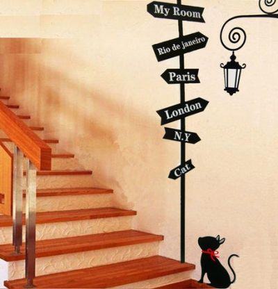 Fantasy deco vinilos decorativos escaleras y gradas for Frases en vinilo para pared