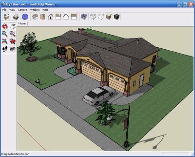 Рабочая панель и проект на стадии разработки