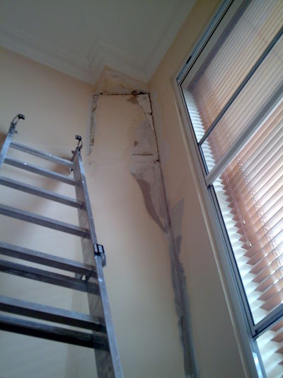 Damaged wall repair in South West London