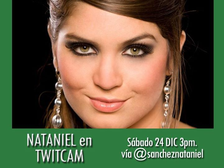 """Nataniel """"Fernanda de al fondo hay sitio"""" en TwitCam, Sabado 24 de diciembre Nataniel"""