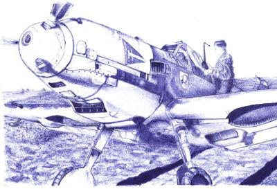 Otro más, el Me109 de Wick