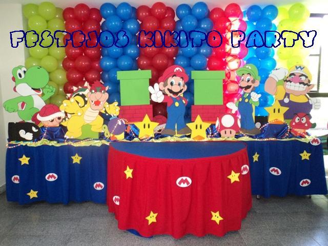 Como decorar un cumpleaños con motivo de Mario Bross - Imagui