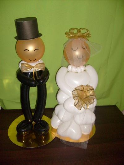 Primer aporte, arreglo con globos para boda.