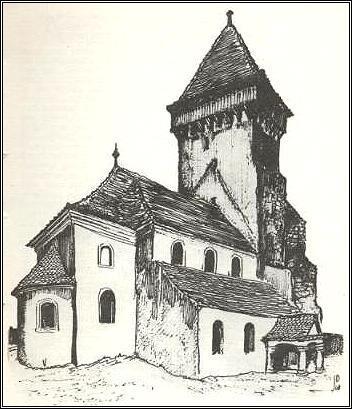 Basilika in Kirchberg (Chirpár) von ...