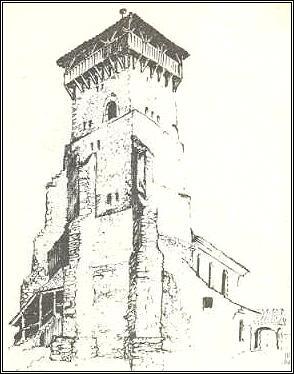 Glockenturm und Wehrturm der Basilika ...