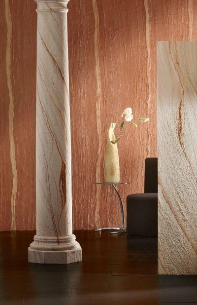 Alte Tapeten Wie Entsorgen : Dekorputz in der Optik einer Rhaufaser Tapete, Scheibenputz oder