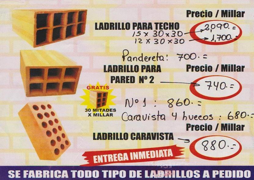 Ladrilleras en pucallpa tipos de ladrillos for Precio de ladrillos