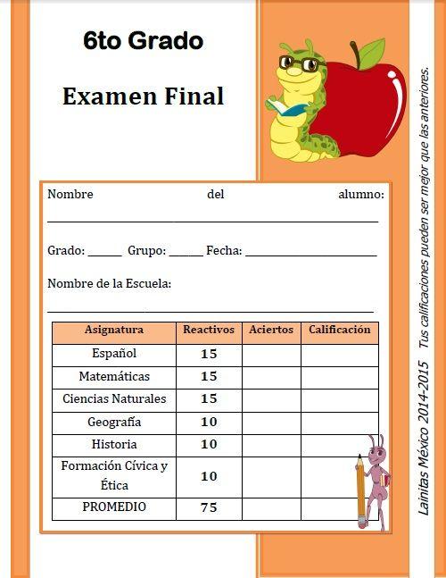 EXAMEN FINAL 14-15 LAINITAS | zomaral14