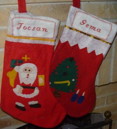 Las cositas de maria calcetines navidad - Calcetines de navidad personalizados ...