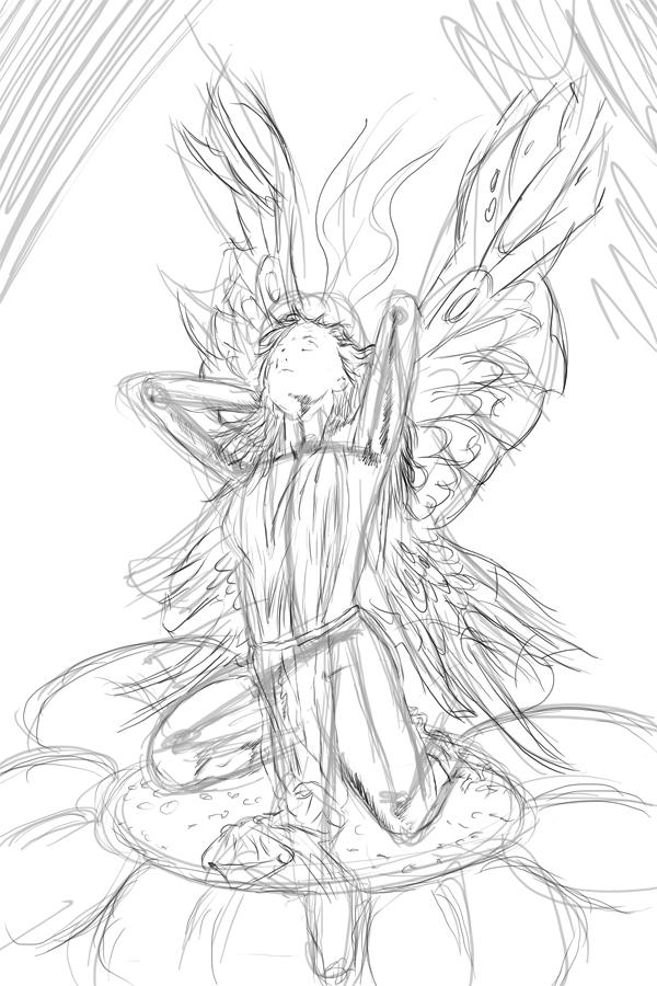 Mein Persöhnliches Mamutprojekt Elfe Auf Blume Fantasy Genial