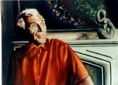 Gemälde, selbst gemaltes Bild, Bildtitel: Portrait eines bekannten Künsters, gemalte Bilder im Realismus