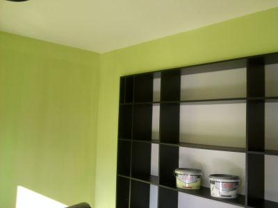 Farbige Wandgestaltung