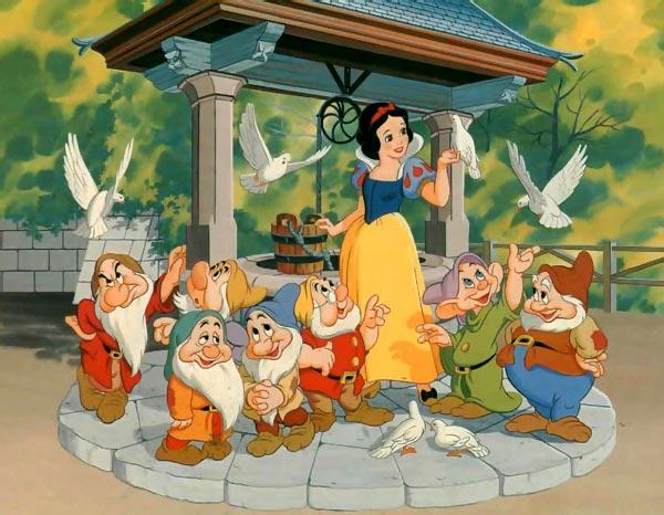Los dibujos de una vida blancanieves y los 7 enanitos - Casa de blancanieves y los 7 enanitos simba ...