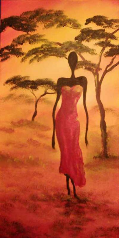 farbenfrohe acrylgem lde des malers ralf lukas afrikanische motive. Black Bedroom Furniture Sets. Home Design Ideas