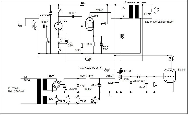 FORUM - ECL82 kleiner amp fertig und funzt