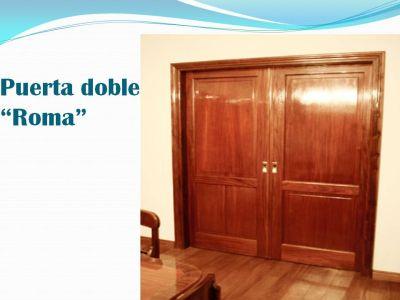 Madera espacios puertas for Puertas color pino