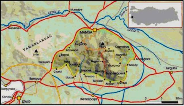 Image result for spil dağı haritası