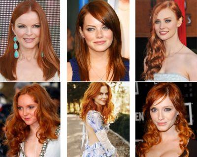 Bakır renkli saçlar 2011 2012 saç trendlerine damgasını vurdu