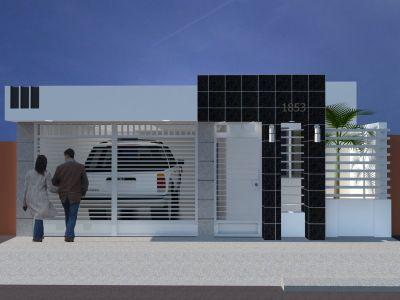 Dise o arquitectonico cavi renders conceptuales for Fachadas de casas modernas de interes social
