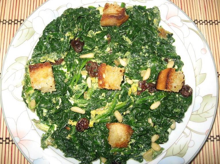 Mis recetas para ti espinacas a mi manera for Maneras de cocinar espinacas