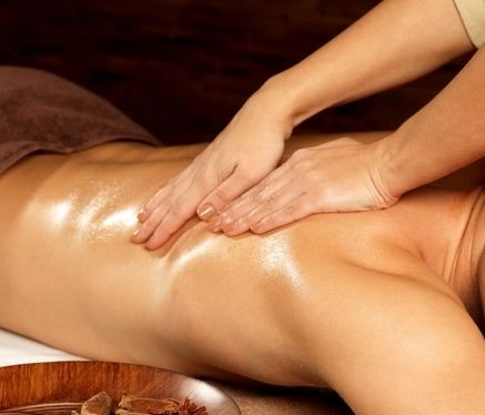 Man receiving sensual tantric massage