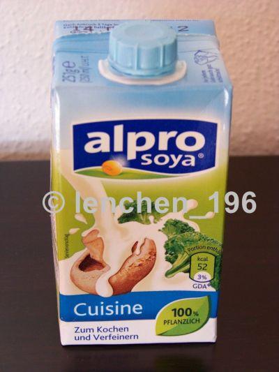 Meine welt lenchen alpro soya cuisine for Alpro soja cuisine