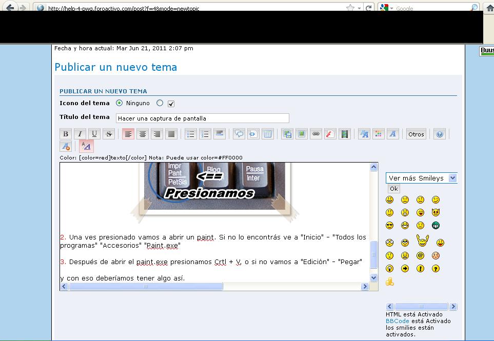 Hacer una captura de pantalla [Facil] Muestra