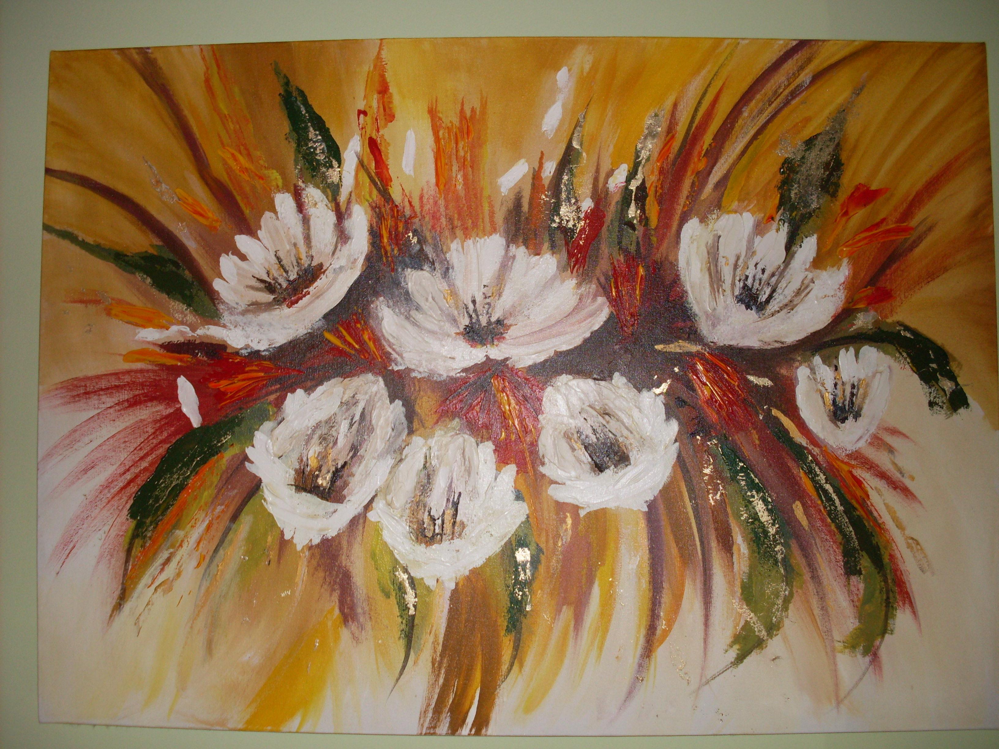 Cuadros De Flores Para Pintar