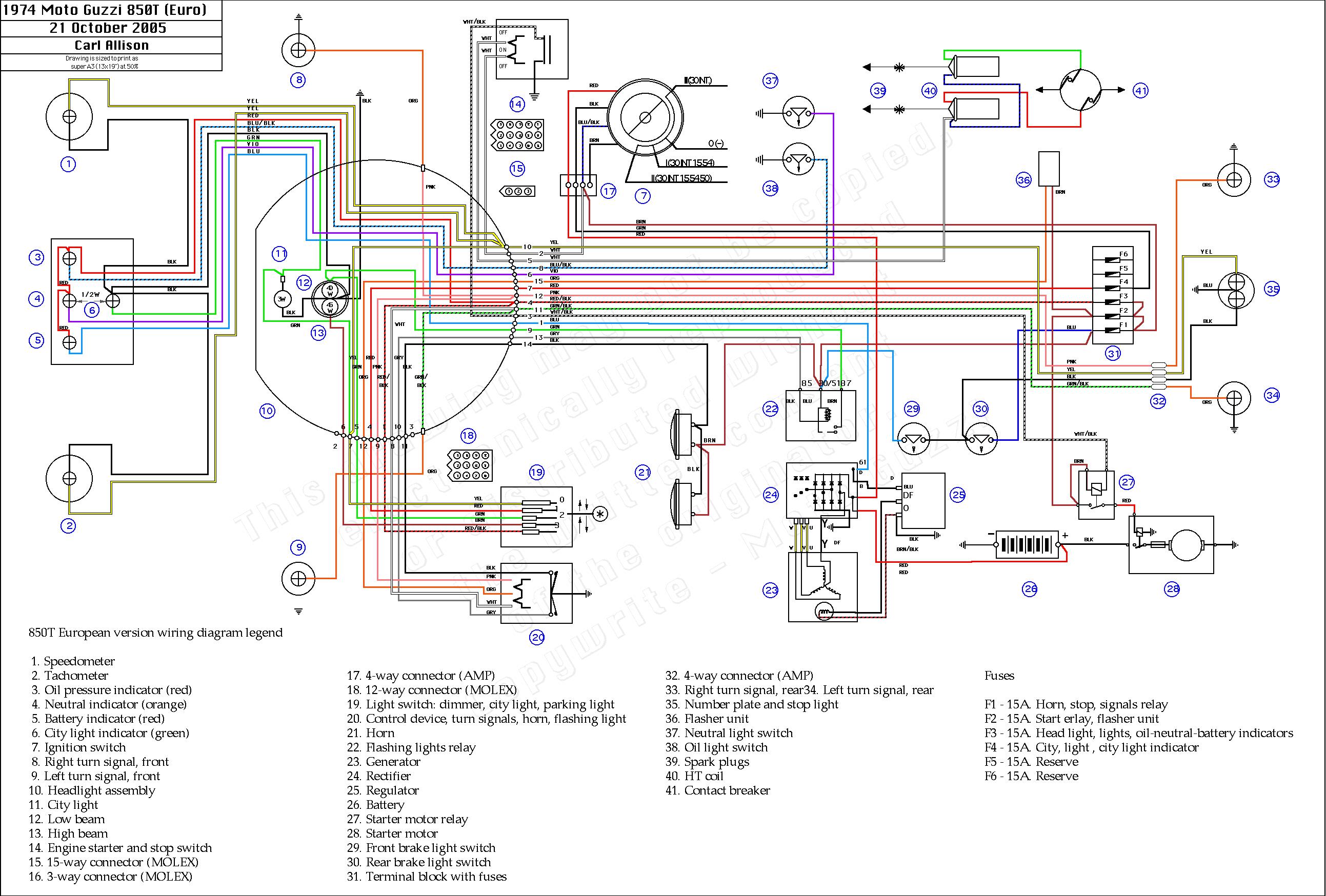 Moto Guzzi T Wiring Diagram