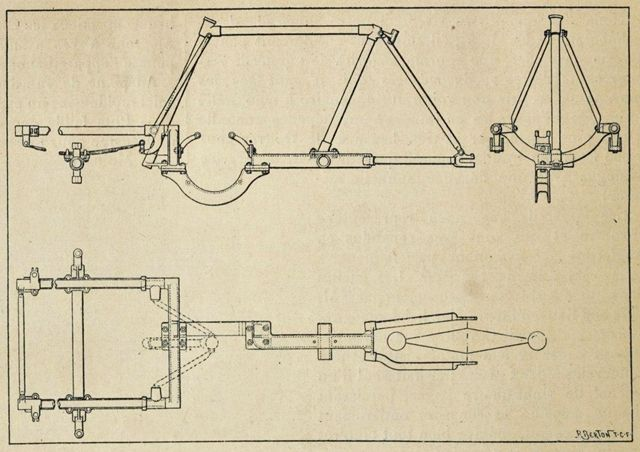 Austral Mototricycle type A dessin cadre 1904