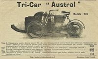 documentation Tri-car Austral 1906
