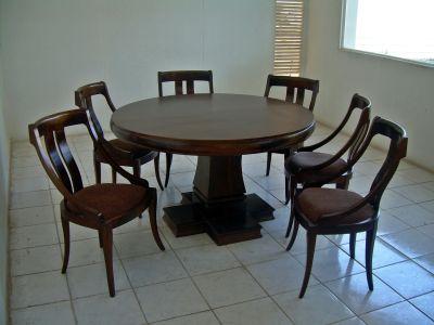 Muebles caba linea new tara for Sillas para comedor redondo