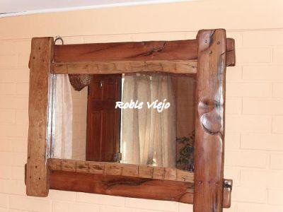 Roble viejo espejos for Espejos de bano rusticos
