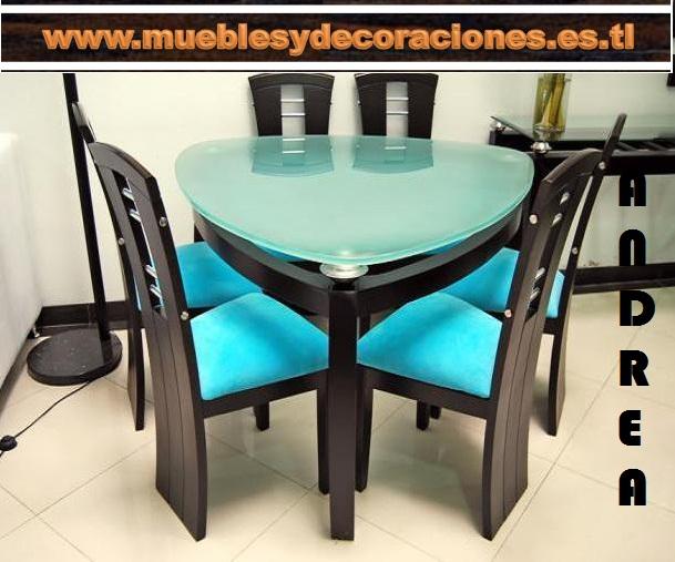 Muebles zuisa comedores for Comedor 4 puestos madera