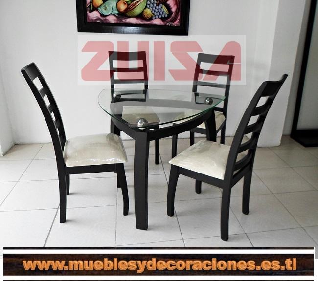 Muebles zuisa comedores for Comedor 4 puestos moderno