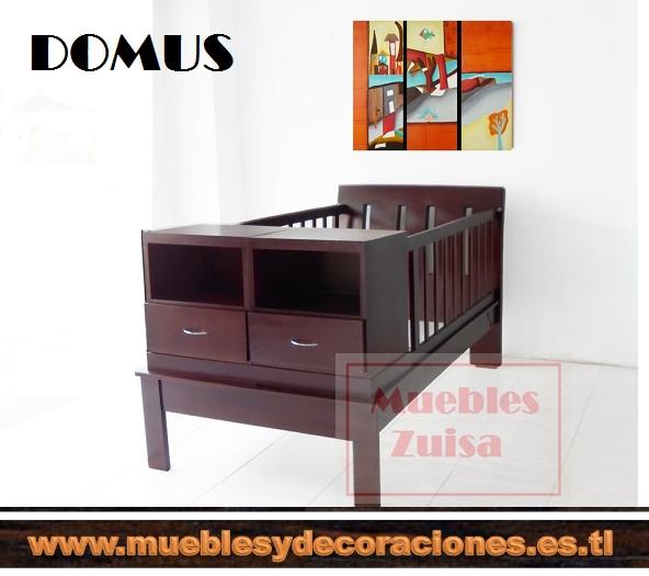 Cama con barandas + cama auxliar con gavetas incluyen 2 camas 1mt x 1