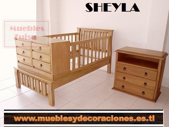 Cama cuna Contemporánea incluyen cama 1mt x 190mts 2 nocheros y