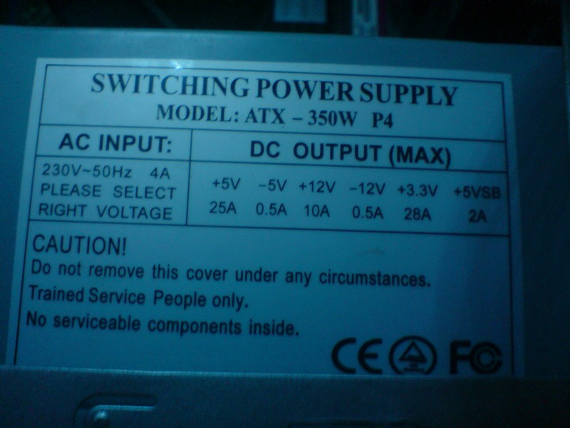 Вопрос.  Сколько ампер написано по линии 12 вольт на боковой наклейке блока питания.  Если меньше 18-20...