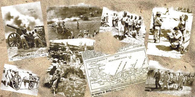 Valencianos tomando rumbo de la Guerra del Rif