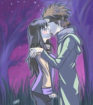 Naruto and Hinata Kiss Kiba