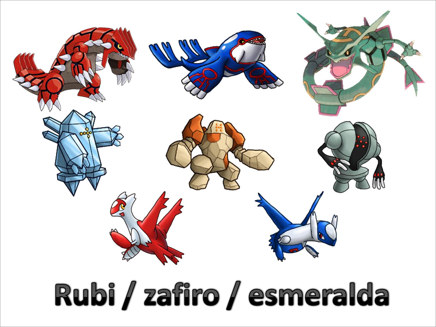 legendarios en pokemon: