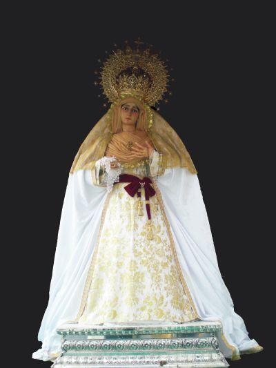 Virgen de los Dolores vestida para la magna mariana de 2010