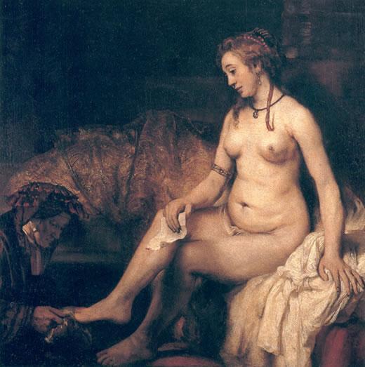 Betsabé en el baño Rembrandt