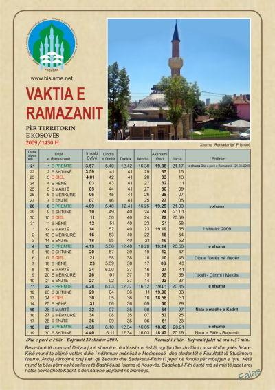 Vaktija E Ramazanit 2015 Per Kosove | Search Results | Calendar 2015