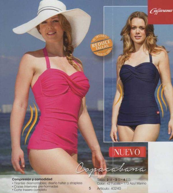 Trajes De Baño Busto Pequeno:Fino traje de baño reductor para mujer reduciendo de 1 a 2 tallas