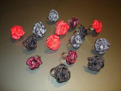Obsesivas compulsivas bijou y accesorios fotos - Flores de telas hechas a mano ...