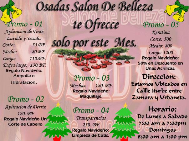 Salon de belleza promociones for Ofertas de salones